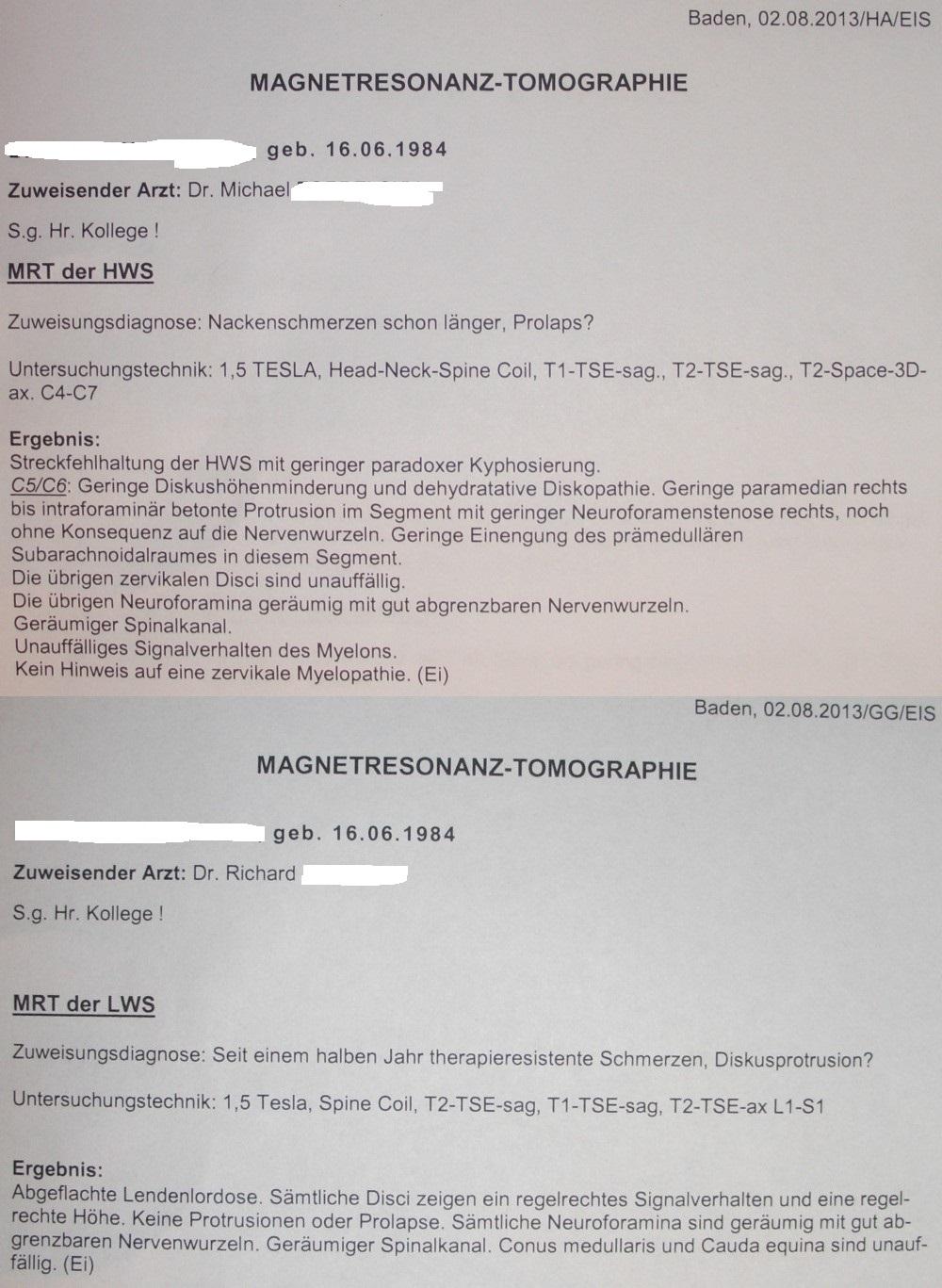 medizin-forum.de • Thema anzeigen - Befunderklärung HWS/BWS/LWS