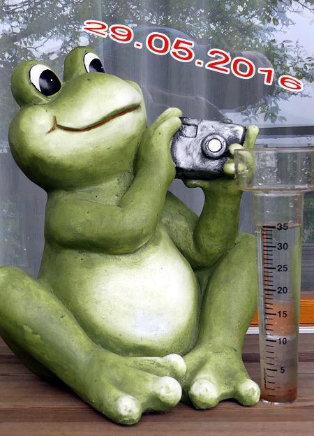 35 Liter pro Quadratmeter